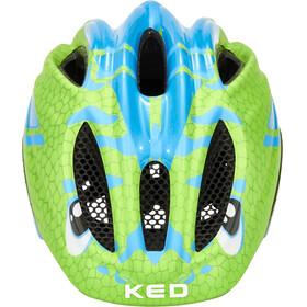 KED Meggy II Trend Helmet Kids Dino Lightblue Green